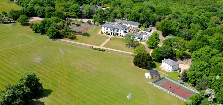 Oakwood School from a birds-eye view