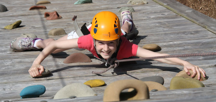 Oakwood pupil rock climbing