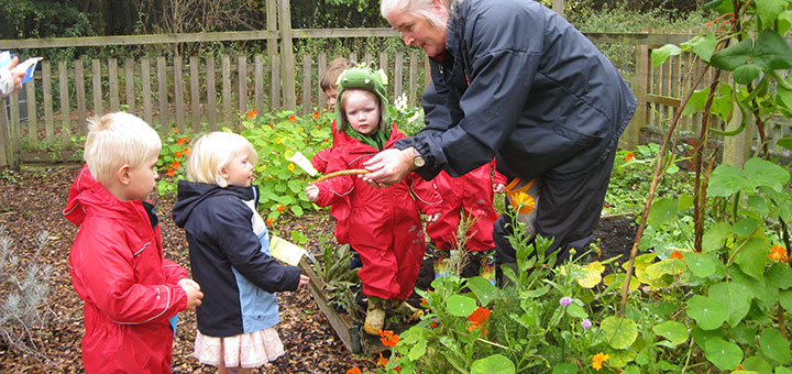 Oakwood Nursery Pupils learning outside