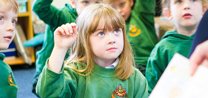 Oakwood pupil in class