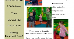 Mini Move It! classes for toddlers begin soon at Oakwood